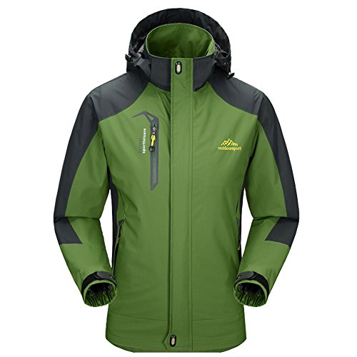 Diamond Candy Men Hooded Waterproof Jacket Lightweight Rain Coat Outdoor Casual Sportswear