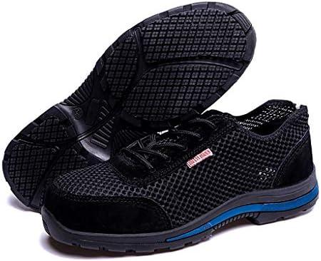 安全靴 メンズ鋼のつま先キャップ光の靴、抗スマッシング抗ピアス作業靴、保護足、工場、山、工事現場、溶接サイトについて、耐摩耗及び通気性 (Color : A, Size : 37)