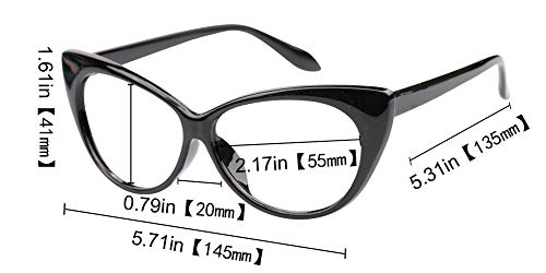 SOOLALA 3-Pair Value Pack Fashion Designer Cat Eye Reading Glasses for Womens, 1.5D by SOOLALA (Image #9)