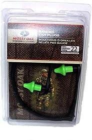 Mossy Oak Banded NRR22 Ear Plugs (Black/Yellow, One size)