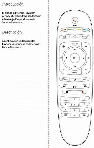 Mando A Distancia (sin Logo) MOVISTAR Fusion TV: Amazon.es: Electrónica
