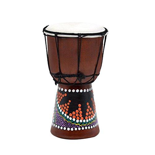 - Homyl Durable 4inch Mahogany Djembe Bongo Tom-Tom African Hand Drum for Kids Musical Toys