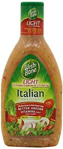 Wish-Bone Salad Dressing, Light Italian, 16 Ounce (Pack of 6)