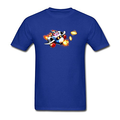 SAMMA Men's Kirby Planet Robobot Design Cotton T Shirt