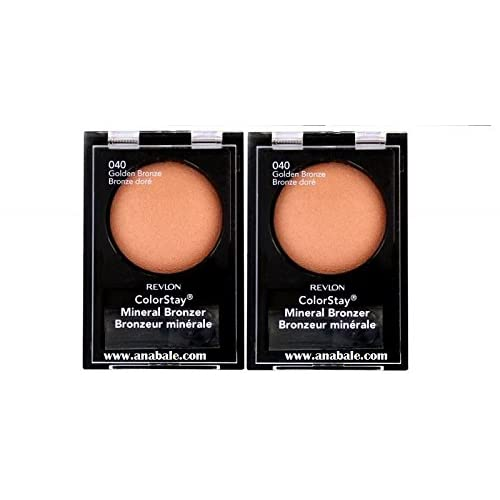 (2 Pack) Revlon ColorStay Mineral Bronzer, 040 Golden Bronze, 0.04 Ounces