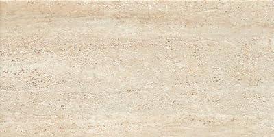 Samson 1036717 Travertini Matte Floor and Wall Tile, 12X24-Inch, Beige, 7-Pack