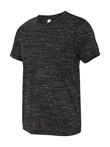 (Bodek And Rhodes 50131415 3650 Bella Canvas Unisex Poly-Cotton Short-Sleeve Tee Black Marble - Large )