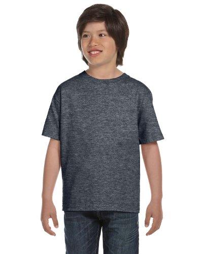 Gildan Dryblend Youth T-Shirt, Dark Hthr, Small