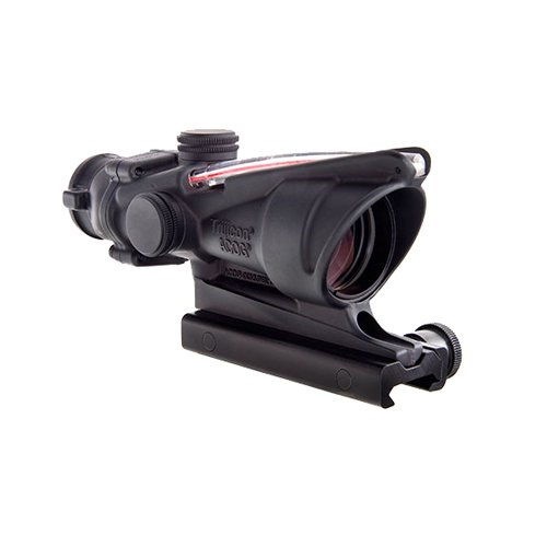 Trijicon TA31-D-100288 ACOG 4x32mm Dual Illuminatedx 40mm, Red Chevron M193 Reticle with TA51 Mount, Black