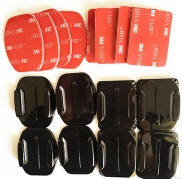 4pcs Curved+4pcs Flat Adhesive Sticky Mounts for Gopro Hero2, Hero3 and Hero3+
