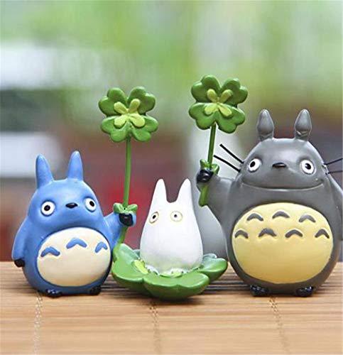 3Pcs/Set Cute Diy Resin Totoro Doll Landscape Miniature Figurines Kawaii Cartoon Animal Miniature Garden Toy Kid Gifts C 3pcs 1 set ()