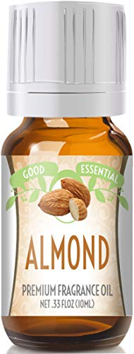 Almond Scented Oil by Good Essential (Premium Grade Fragrance Oil) - Perfect for Aromatherapy, Soaps, Candles, Slime, Lotions, and More!