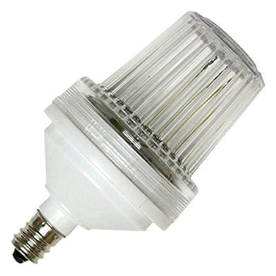 Candelabra Screw (E12) Base - Flat Top - Clear | Action Lighting Tower Strobe Light Bulb (00701)