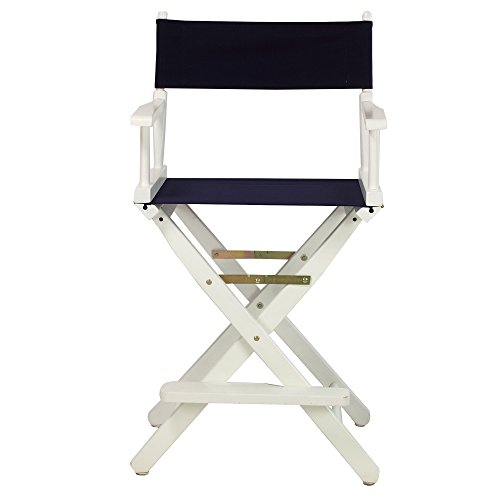 Casual-Home-24-Inch-Director-Chair-White-Frame-Navy-Blue-Canvas