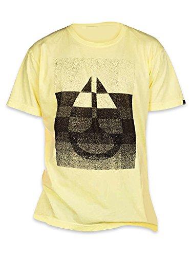 Nixon Herren Gelb Rider T Shirt RRP £ 29.00