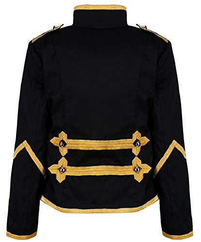E Punk Ro Per Oro In Militare Da Emo Percusionista Sfilata Giacca Donne Rox Nero qR4Sq1Bxw