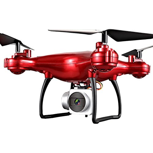 Dirance 4CH 6-Axis RC Quadcopter Drone, 1800mAh High Capacity Battery Helicopter, Headless Mode & Altitude Hold & One Key Return (Red) by Dirance