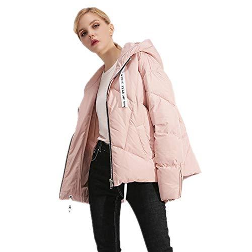 Courtes Duvet Manches En À Pink D'hiver Femmes h Veste Simple Courte Pour 80mNnwvO