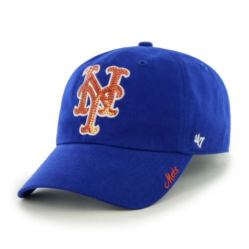 '47 MLB New York Mets Women's Sparkle Team Color Cap, One-Size, Royal