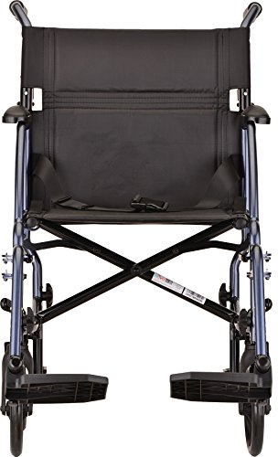 NOVA Medical Products Lightweight Transport Chair, Blue, 18 Inch, 20 Pound by NOVA Medical Products (Image #2)