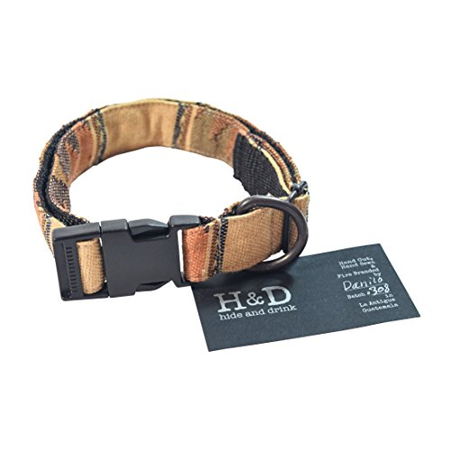 Dog Collar For Small - Medium Dogs (14.5 - 24.5 Inches) Handmade by Hide & Drink :: Sunset Comalapa