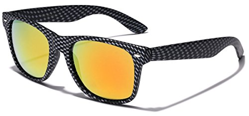 Carbon Fiber Style Retro Fashion Sunglasses Carbon Fiber | Fire