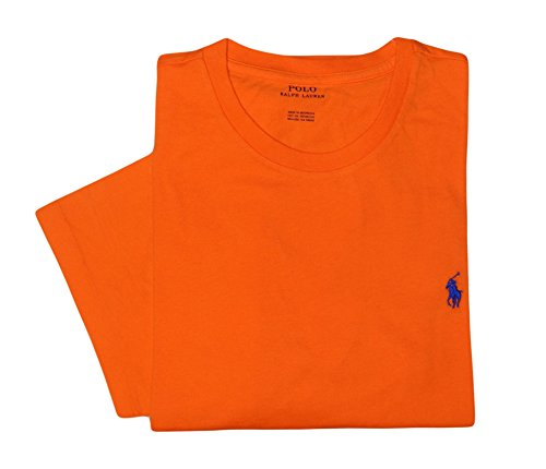 Polo Ralph Lauren Men's Classic Fit Short Sleeve T-Shirt-Orange/Navy-Medium