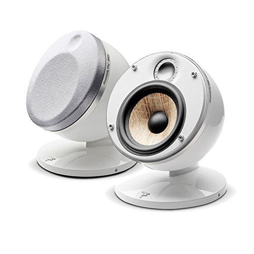 Focal Dome Pack 2.0 Flax 2-Way Compact Sealed Satellite Speaker (White, Pair) by Focal