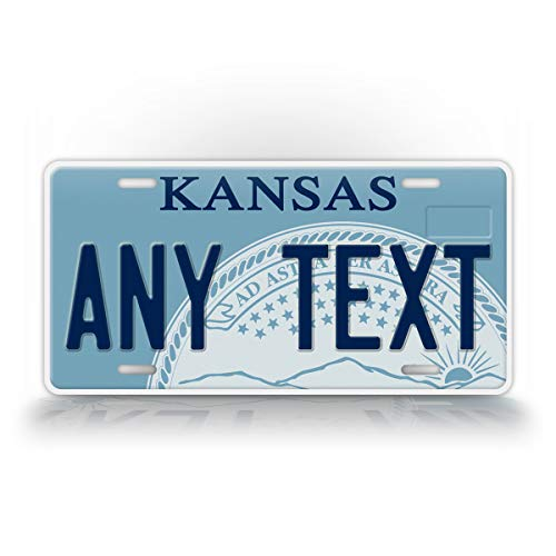 Kansas License Plate - SignsAndTagsOnline Custom Kansas State License Plate KS Replica Personalized Text Novelty Auto Tag