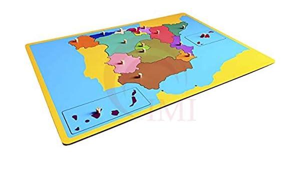 International Montessori Institute- Mapa Puzzle De España en Madera: Amazon.es: Industria, empresas y ciencia