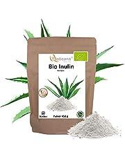 Biologische inulinepoeder - 450 g in kraftpapieren zak - inuline uit Agage - 100% veganistisch, koscher en halal - prebiotisch - ballaststoffen poeder - Bioticana - Inullin - Bio Inuline - DE-ÖKO-001