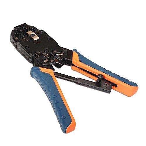 Nano Cable 10.31.0102 Pince M/étallique /à cliquet pour sertir c/âbles RJ11//RJ45