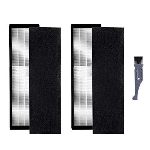 I clean 2 Packs Filter B for GermGuardian FLT4825, True HEPA Filter Replacement Fit for AC4825 AC4300 AC4800 4900 Series Air Purifiers with A Free Cleaning Brush ()