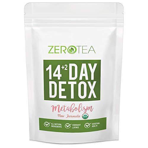 Zero Tea Detox Tea, Weight Loss Tea, Teatox Herbal Tea for Cleanse (14+2 tea bag)