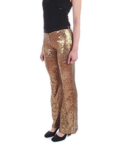 Twin Giallo Ts82eq Paillettes Full Set Foderato 50 Oro Pantaloni Donna Bx8FrwqB