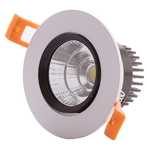 Veesee 5W COB LED Bulb Recessed Ceiling Light 90W Halogen Equivalent Spotlight Downlight Ultra Bright 3000K Warm White Energy Saving Lamp for Household Hotel Bar Restaurant Lighting