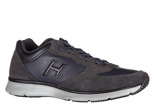 Hogan chaussures baskets sneakers homme en cuir traditional blu