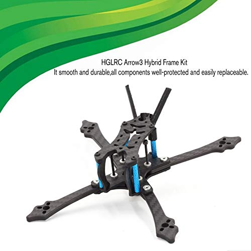 Wikiwand HGLRC Arrow 3 Hybrid FPV Racing Drone Durable Frame Kit for Mini Quadcopter by Wikiwand (Image #2)
