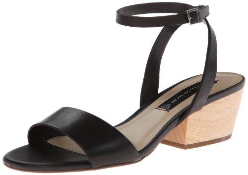 STEVEN by Steve Madden Women's Caleyy Dress Sandal,Black Leather,8 M US