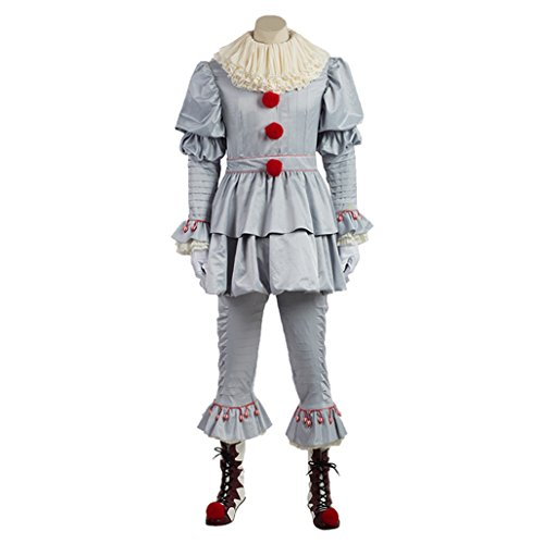 Horror Classic Costume Clown (Men's Halloween Clown Costumes from Classic Horror Movie)