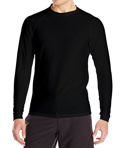 Loose Fit Swim Shirts For Men - Long Sleeve UV 50 + Sun Protection Swimwear - Play In The Sun All Day With No Sunburn - The Softest Most Comfortable Swimming Clothing (Black, 2XL)