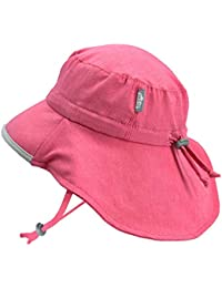 Girls Quick-Dry Pool Swim Sun-Hats 50+ UPF Adjustable (L: 2Y - 5Y, Pink)