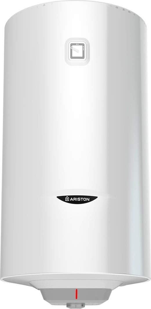 Ariston Pro1 Eco Dry Multis Termo Electrico 50 litros Slim | Calentador de Agua Vertical y Horizontal, Multiposicion, Resistencia Doble Envainada – Intelegente con Display de Leds