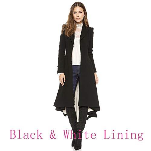 Digital baby Simple Metal Lapel Suit Cufflinks Fold Wool Coat Tails(Black,XXL(Thick Wool Coat)) by Digital baby (Image #9)