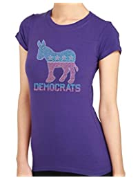 Democrats Donkey Rhinestone/stud Womens T-Shirts