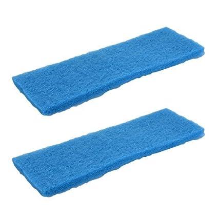 DealMux Esponja Acuario Pecera rectangular bloque de espuma bioquímicos almohadilla del filtro 2 piezas azul
