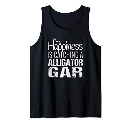 Alligator Gar Shirt | Happiness is Catching Alligator Gar Tank Top