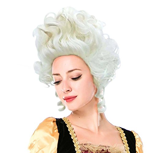 Colonial Wigs Ladies 18th Century Marie Antoinette Cosplay Adult Women