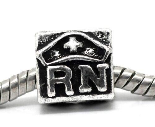 Pendant Jewelry Making Antiqued Silver RN Registered Nurse & Nurse