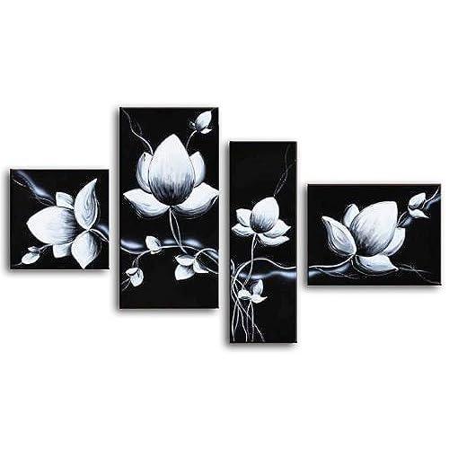 Black and White Flower Wall Art: Amazon.com